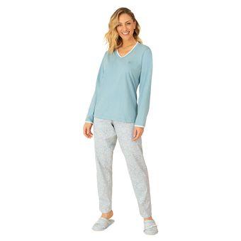 Pijama-Feminino-Manga-Lonca-com-Calca-Decote-V-Pzama-Meia-Malha-Anjo-Azul--P-