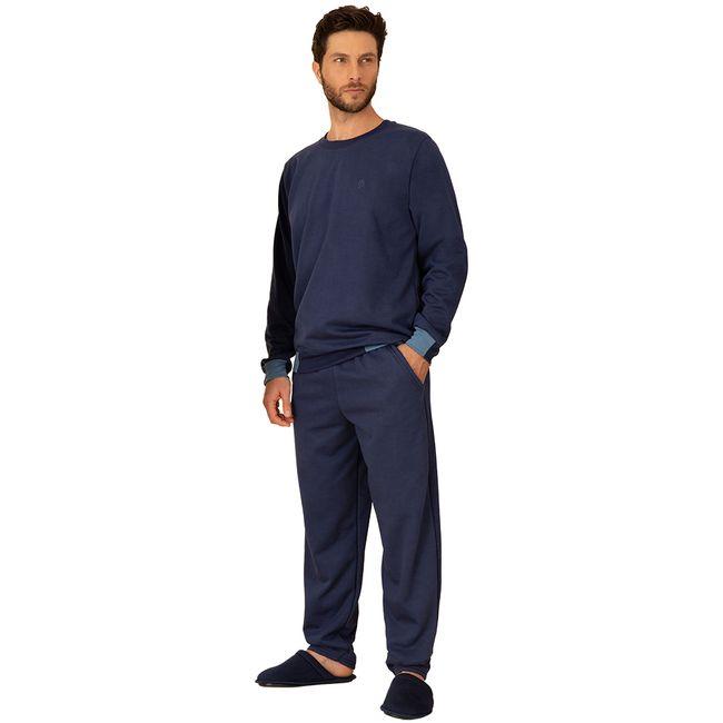 Pijama-Masculino-Manga-Longa-com-Calca-Pzama-Moletinho-Marinho--M-