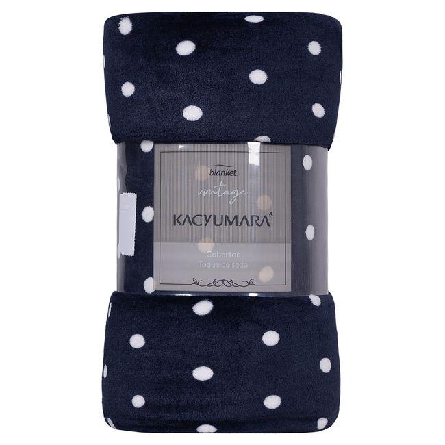 Cobertor-Solteiro-Kacyumara-Blanket-Vintage-300-g-m²-Marinho