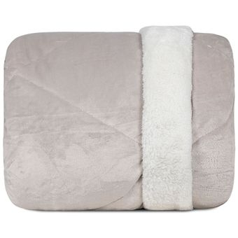 Edredom-Queen-Size-Dupla-Face-Hedrons-Plush-e-Sherpa-Cevada