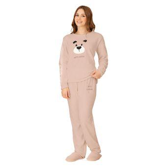 Pijama-Feminino-Manga-Longa-com-Calca-Pzama-Encanto-Fleece-Rosa--P-