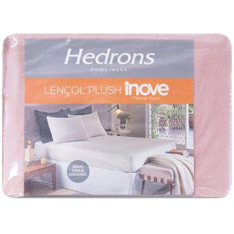 Lencol-de-Plush-Queen-Size-Hedrons-158x198x35cm-Rosa-Cha