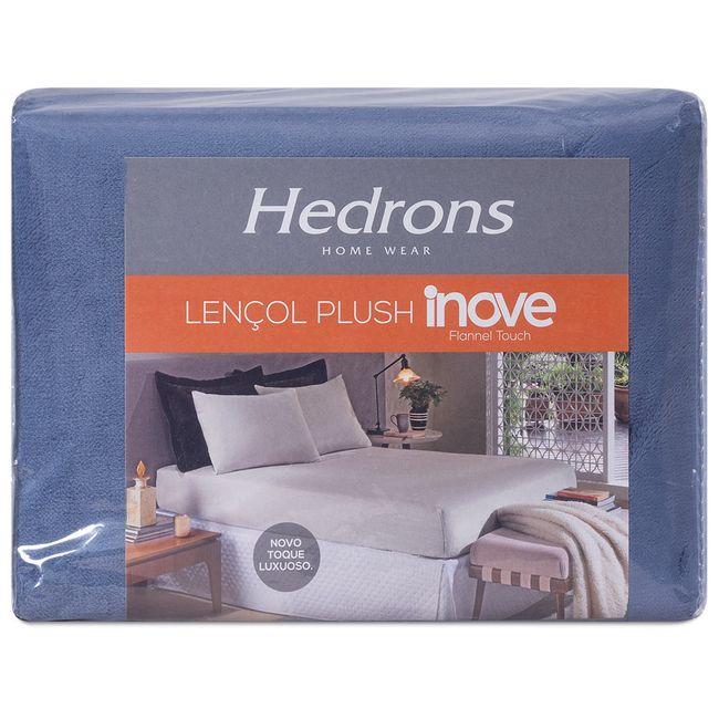 Lencol-de-Plush-Queen-Size-Hedrons-158x198x35cm-Azul-Indigo
