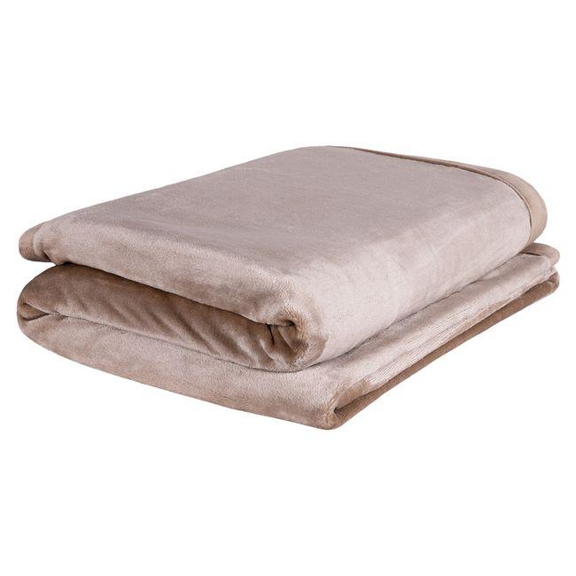 Cobertor-Solteiro-Europa-Toque-de-Luxo-150-x-240cm---Marrom-Claro