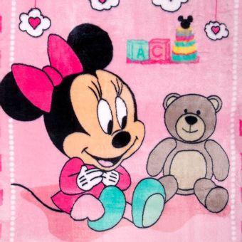 Cobertor-Bebe-Raschel-Minnie-Surpresa-Rosa