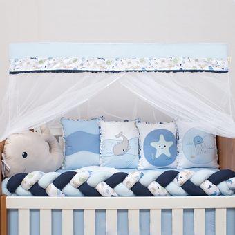 Kit-Berco-10-Pecas-Fundo-do-Mar-Azul-Baby-Magia-Brubrelel