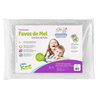 Travesseiro-Infantil-Fibrasca-Favos-de-Mel-Kids