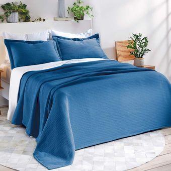 Colcha-Queen-Size-Dohler-3-Pecas-Anarruga-Azul