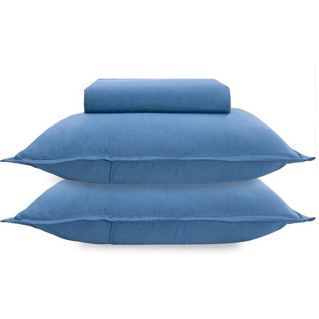 Jogo-de-Cama-Casal-Buettner-Malha-3-Pecas-Azul-Marinho